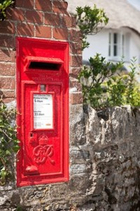 English post box.